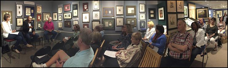Panoramic Image at the Poetry Reading