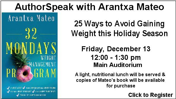 authorspeak Arantxa Mateo on Dec. 13 at 12 pm
